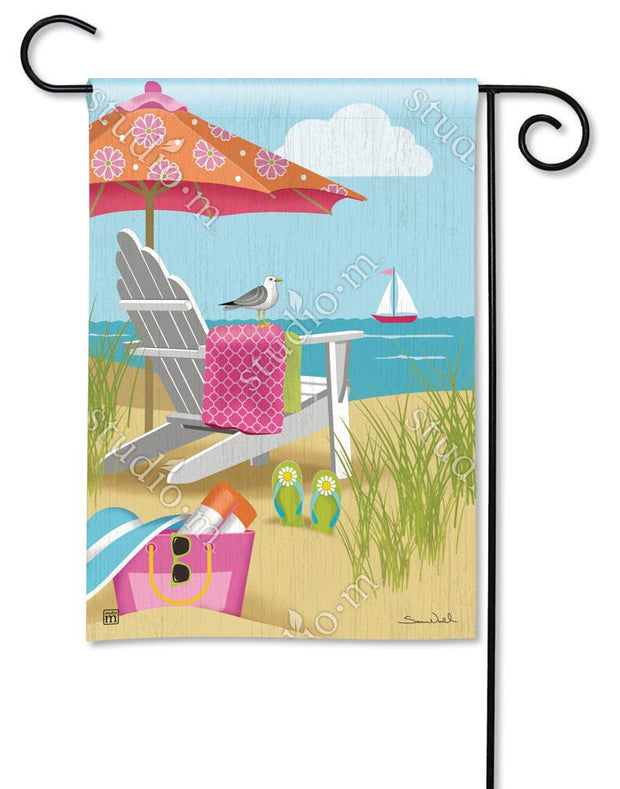 Better at the Beach Garden Flag