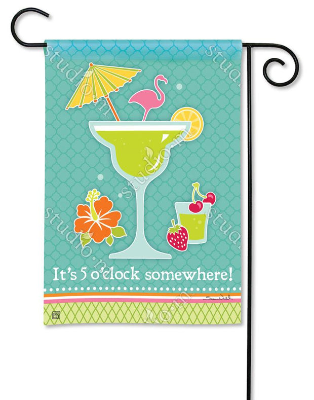 Cocktail Time Garden Flag
