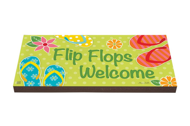 Flip Flops Welcome Art Paver Garden Step