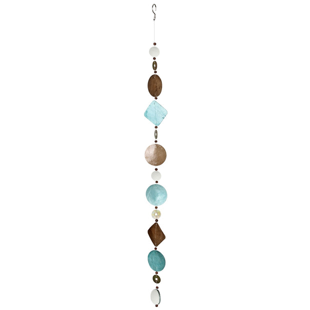 Capiz Cascade Suncatcher Hanging Decor (Sea Breeze)