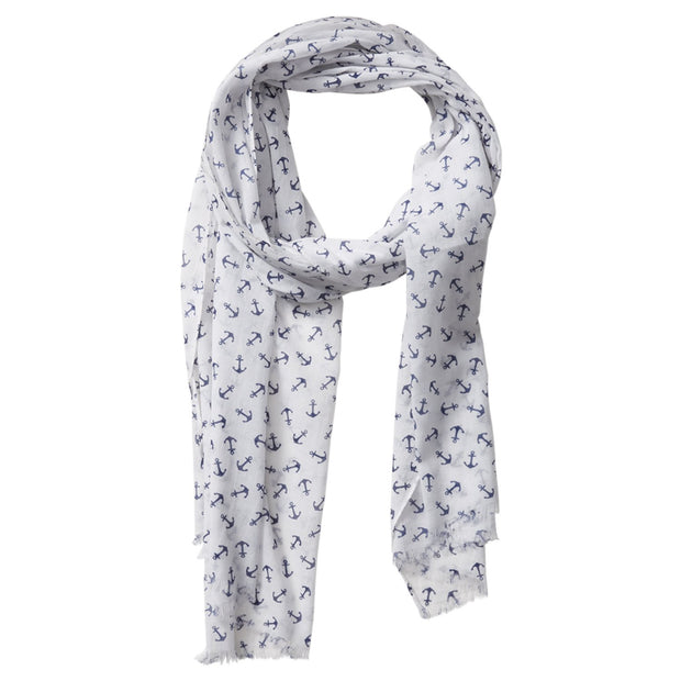 Tiny Anchors Scarf (White)