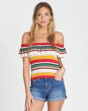 Billabong® Take A Trip Off-The-Shoulder Knit Top