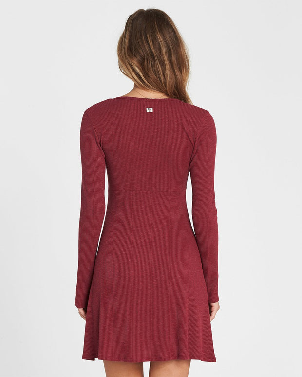 Billabong® Walk On Sweater Dress (Cranberry)