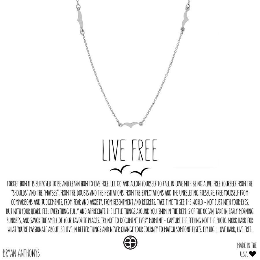 Bryan Anthonys Live Free Necklace (Silver)