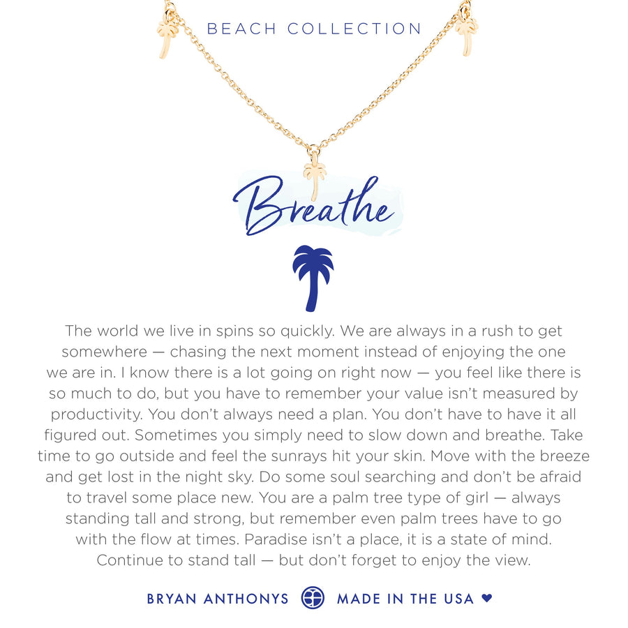 Bryan Anthonys Breathe Anklet (Gold)