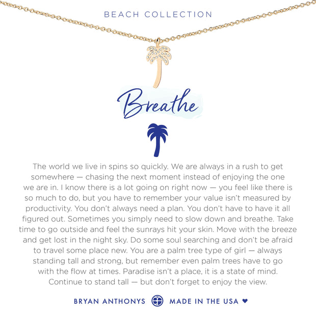 Bryan Anthonys Breathe Necklace - Gold