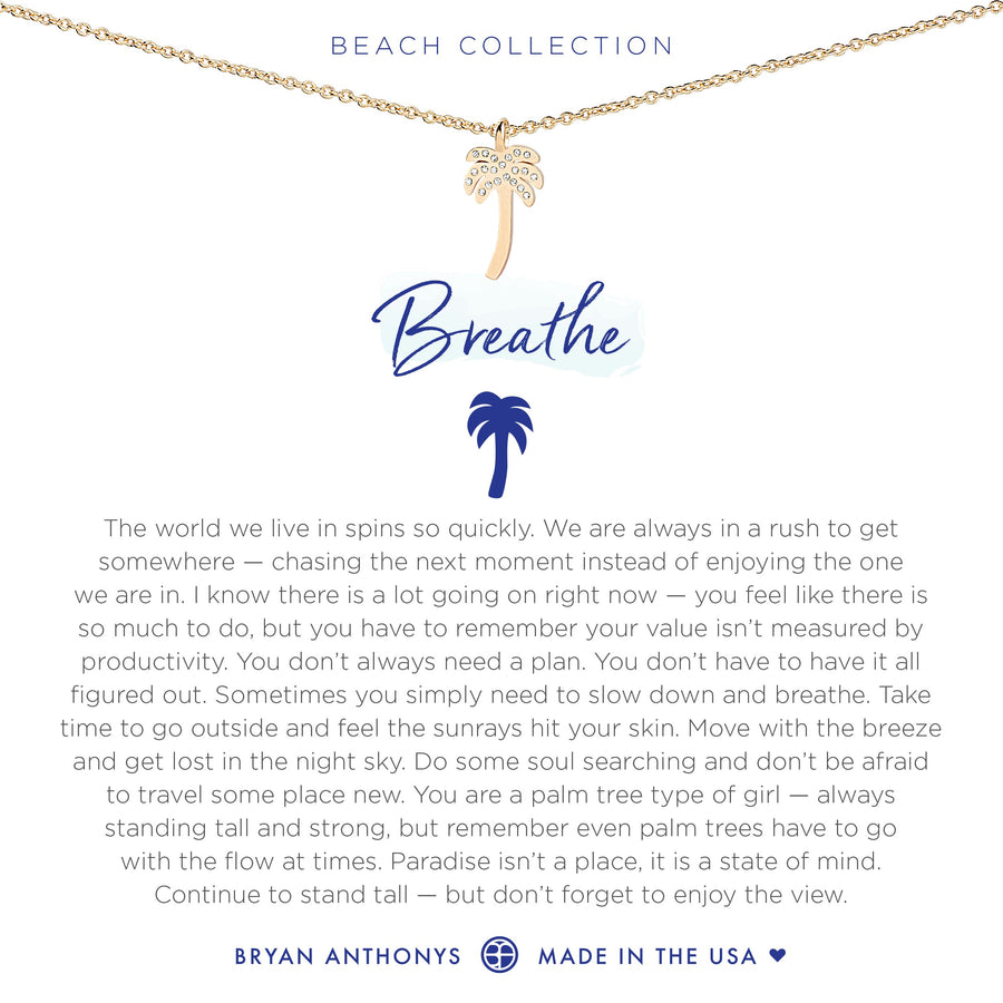Bryan Anthonys Breathe Necklace (Gold)