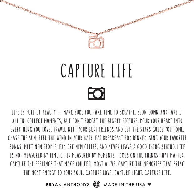 Bryan Anthonys Capture Life Necklace (Rose Gold)