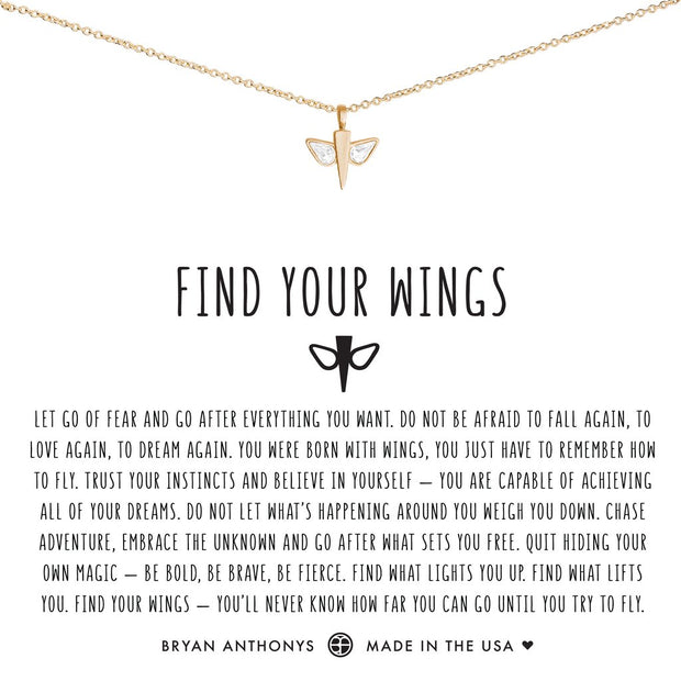 Bryan Anthonys Find Your Wings Necklace (Gold)