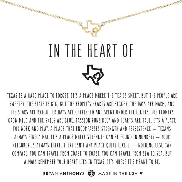 Bryan Anthonys In the Heart of Texas Necklace (Gold)