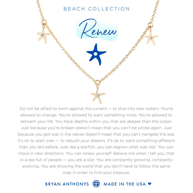 Bryan Anthonys Renew Anklet Starfish - Gold