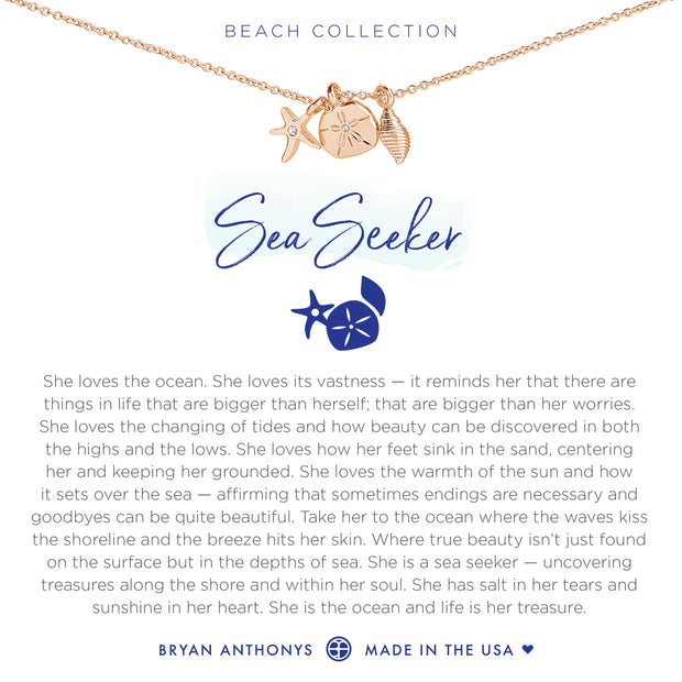 Bryan Anthonys Sea Seeker Necklace (Rose Gold)