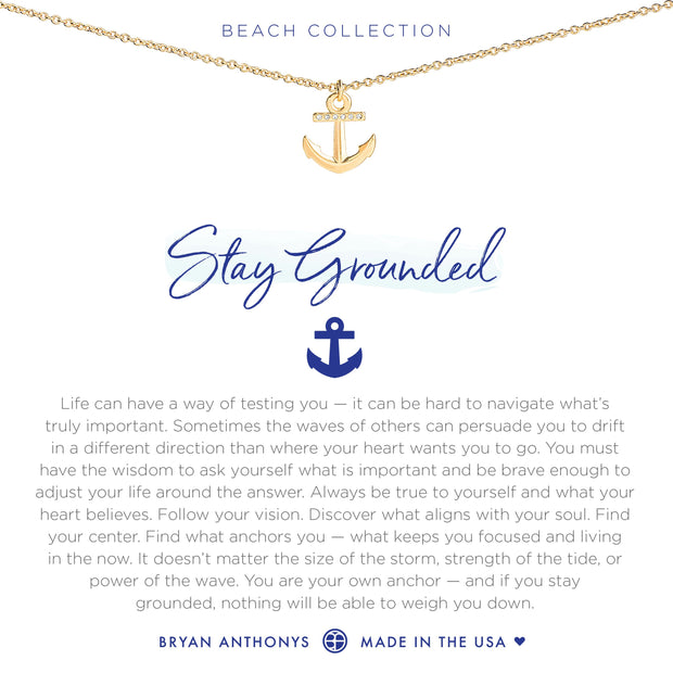 Bryan Anthonys Stay Grounded Anchor Necklace (Gold)