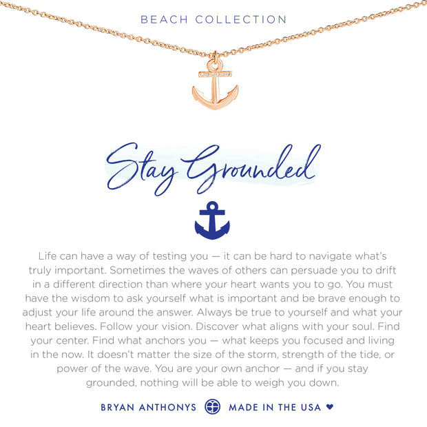 Bryan Anthonys Stay Grounded Necklace (Rose Gold)