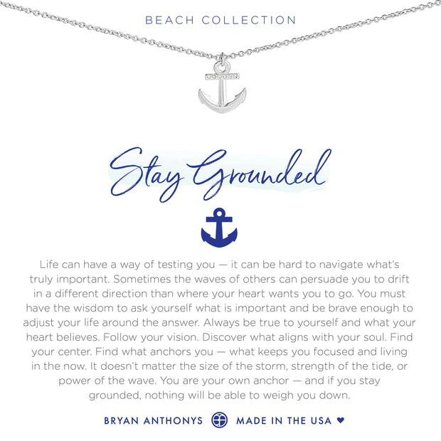 Bryan Anthonys Stay Grounded Necklace (Silver)