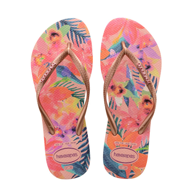 Havaianas Slim Tropical Sandal (Ballet Rose)