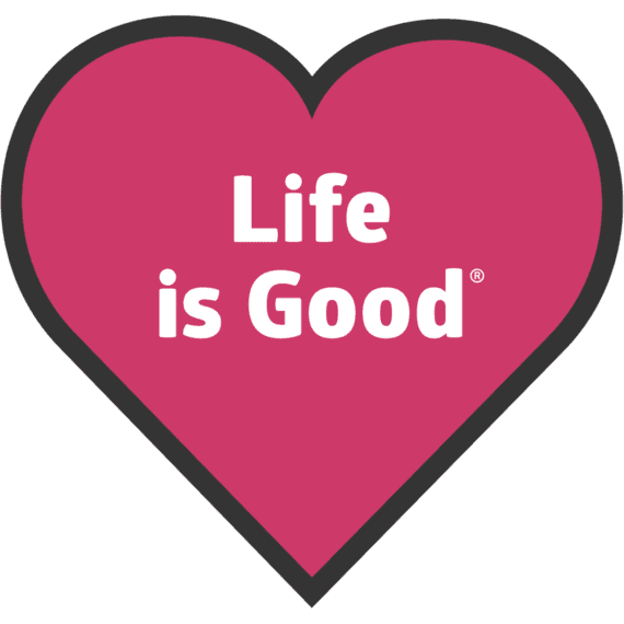 Life Is Good® Heart Die-Cut Sticker