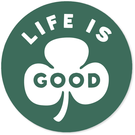 "Life Is Good® Clover 4"" Round Sticker"