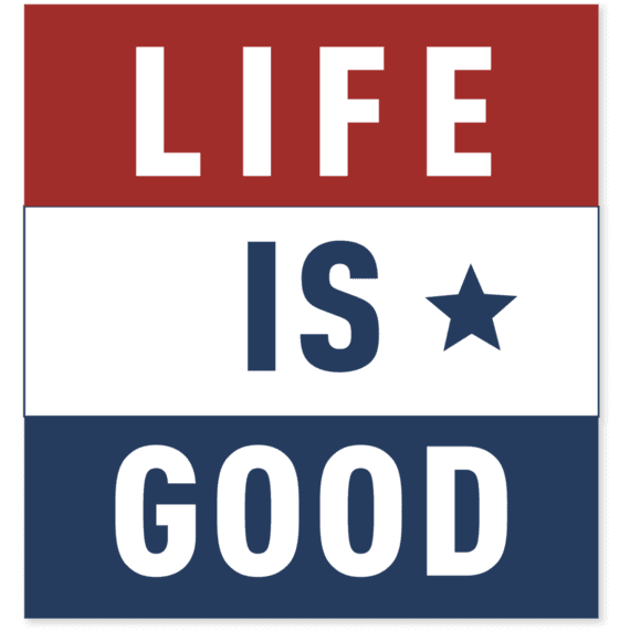 Life Is Good® Flag Square Sticker