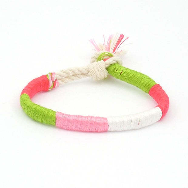 jayciMay Passion Fruit Twisted Colorblock Bracelet