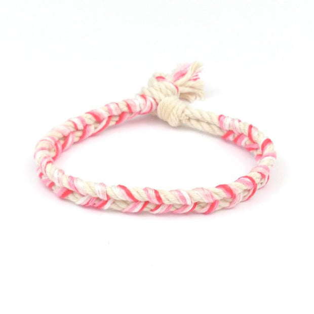 jayciMay Pink Lemonade Braided Bracelet