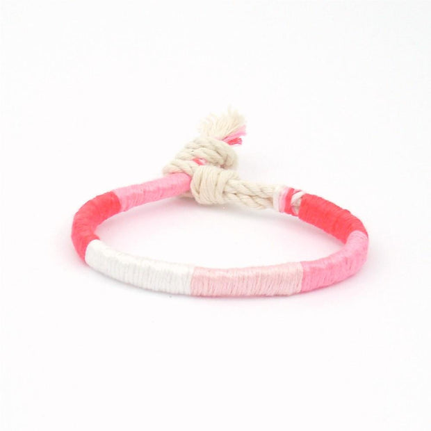 jayciMay Pink Lemonade Twisted Colorblock Bracelet