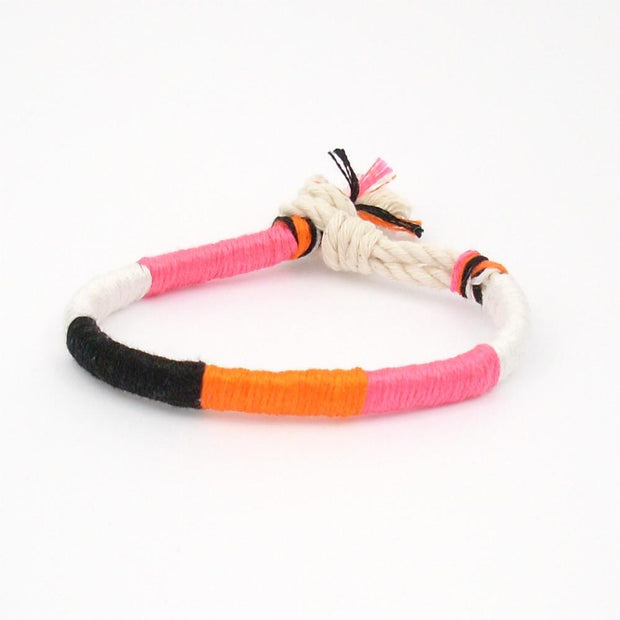 jayciMay Sherbet Summer Twisted Colorblock Bracelet