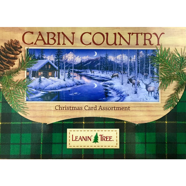 Leanin' Tree Cabin Country 20 Christmas Cards Assortment