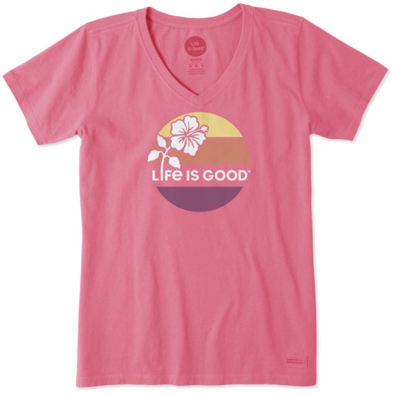 Life Is Good® Women's Hibiscus Sun Crusher Vee