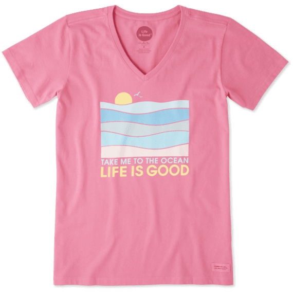 Life Is Good® Women's Take Me To The Ocean Crusher Vee
