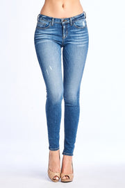 5-Pocket Denim Skinny Jeans (Light Wash)