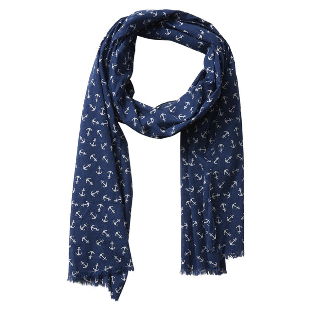 Tiny Anchors Scarf (Navy)
