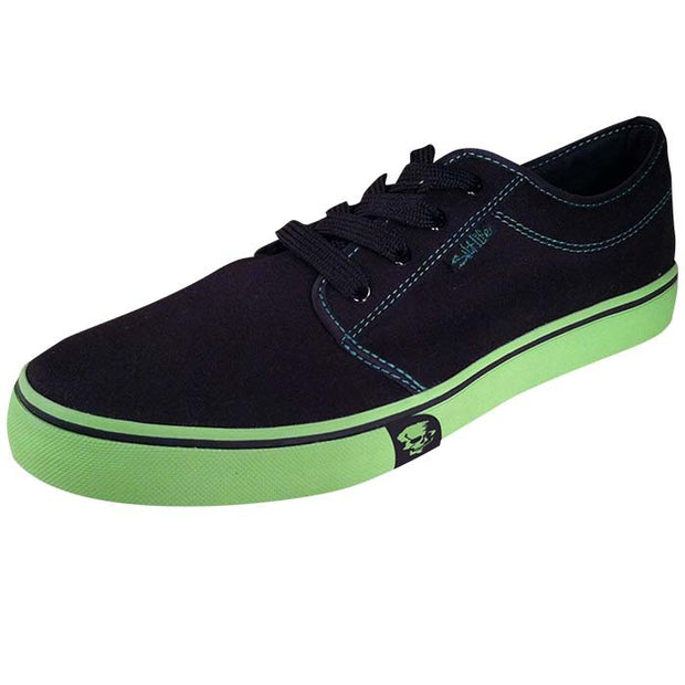 Salt Life Men's Pipe Down Sneaker (Black/Lime)
