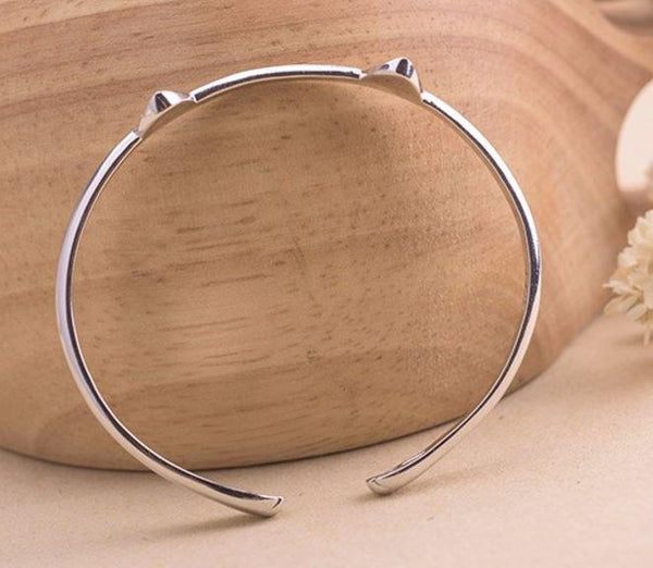 Sterling Silver Cat Ear Bracelet