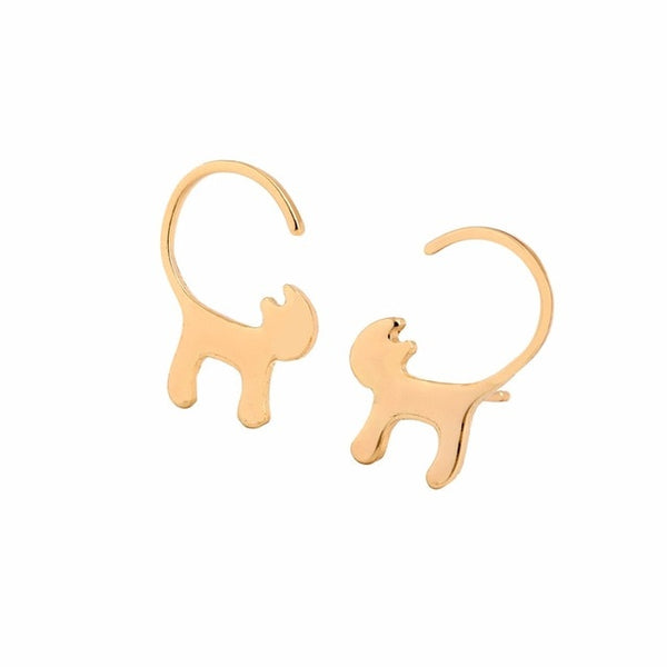 Cute Cat Tail Earrings - Silver/Gold/Rose Gold Plated