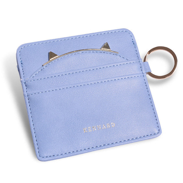 Cat Ear Cash Credit Card Wallet with Key Ring