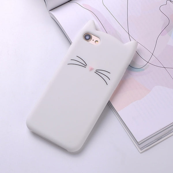 Soft Cat Phone Case for iPhone