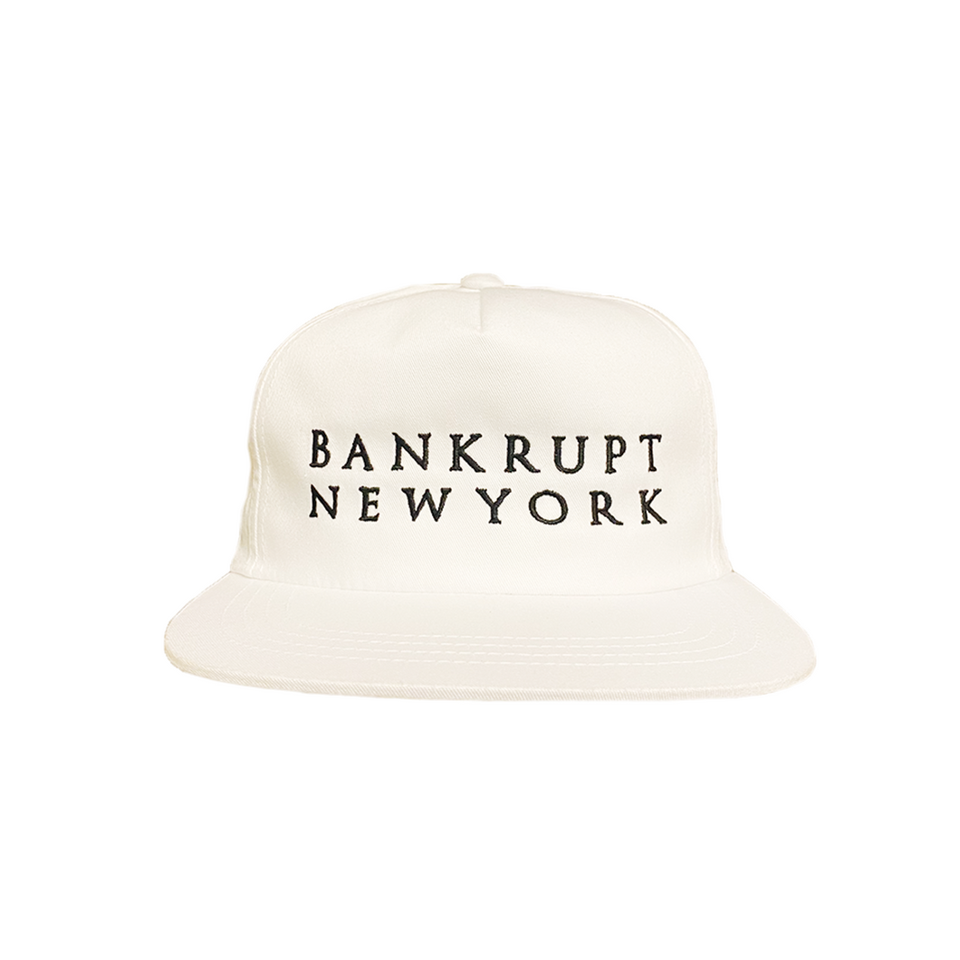 Bankrupt Hat, White