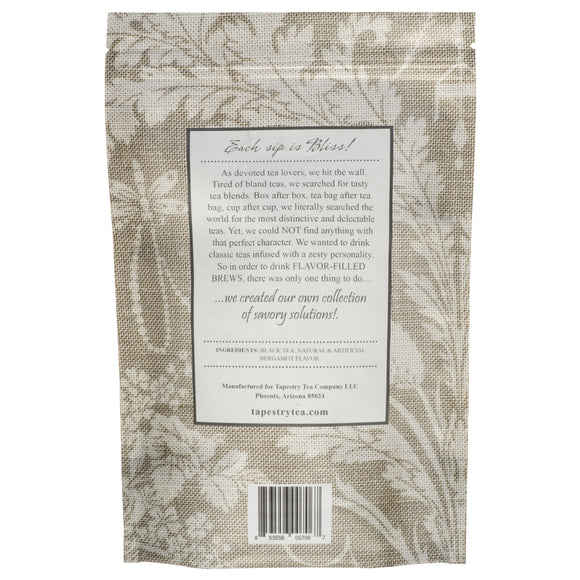 [Earl Grey Premium Whole Leaf Black Tea Bergamot Blend Tea Bags Pouch] - Tapestry Tea Company