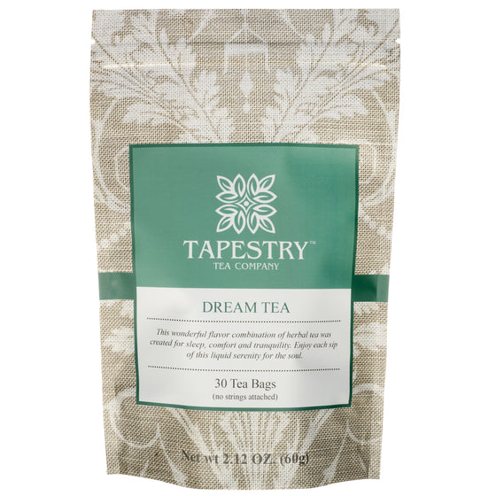 [Tapestry Tea Dream Tea Chamomile Herbal Sleep Blend Front of Pouch] - Tapestry Tea Company