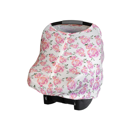 Blush Rose - 4096 - Baby Leaf Car Seat Covers Best Nursing Cover for New Moms