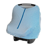 Baby Cover - Blue Stripes - Baby Leaf Car Seat Covers Best Nursing Cover for New Moms