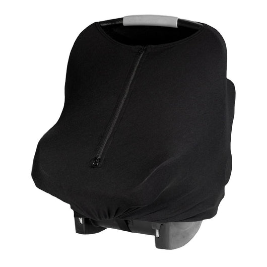 Baby Cover - Simply Black - Baby Leaf Car Seat Covers Best Nursing Cover for New Moms