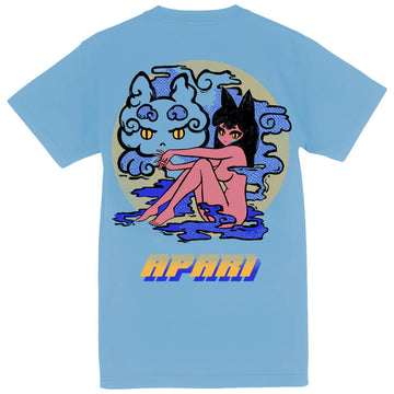 Smokey Neko T-Shirt Blue