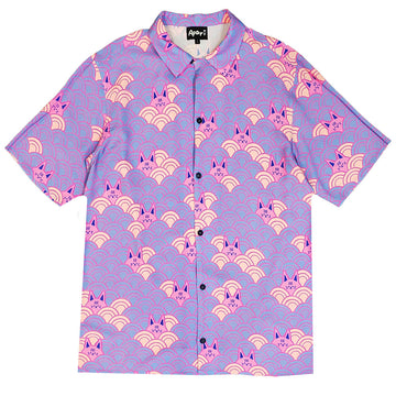 Kuo Wave Button Down Purple