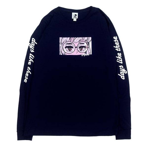 Navy Tired Eyes Long Sleeve
