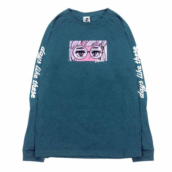 Teal Tired Eyes Long Sleeve