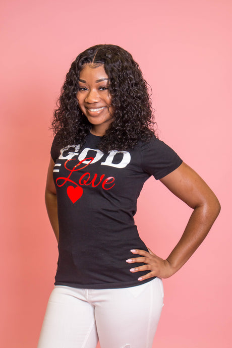 God = Love Fitted Tee