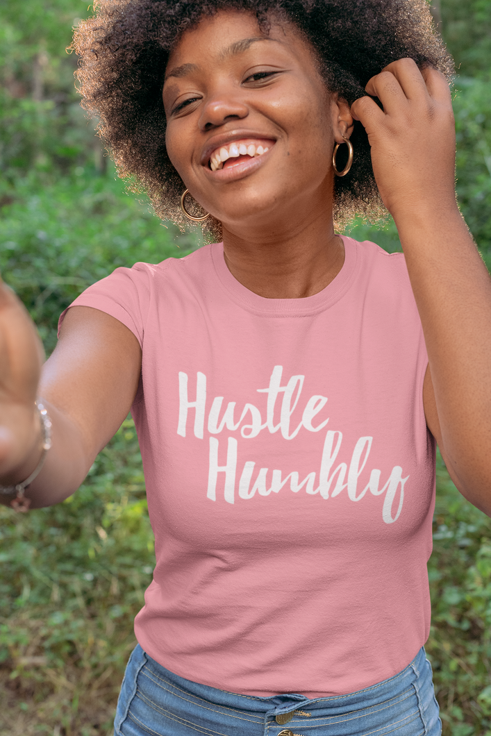 Hustle Humbly Pink  T-shirt