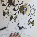 James Baldwin print each signed by the artist Leah Chappell